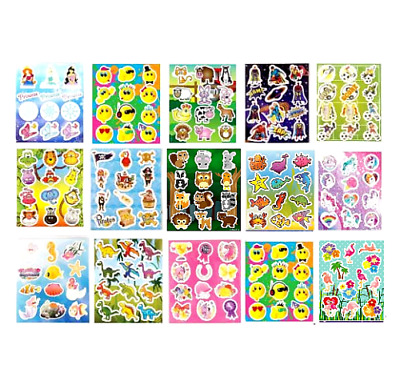 £1.29 • Buy Childrens Party Bag Stickers Sticker Sheets Fillers- Different Designs To Choose