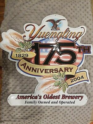 $33.99 • Buy Authentic Yuengling Beer Brewery 175th Anniversary Pub Bar Metal Tin Sign 20x20