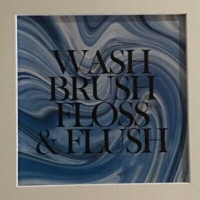 'wash, Brush,floss And Flush' Bathroom Plaque Sign • 1£