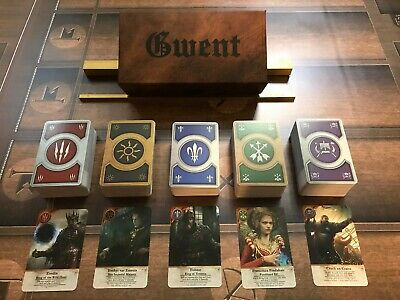 $ CDN126.25 • Buy GWENT CARDS (5 DECKS) Witcher 3 COMPLETE SET With BOX!