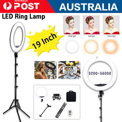 AU29.90 • Buy 19 /10  LED Ring Light Dimmable Tripod Diffuser & Stand For Youtube Selfie Video