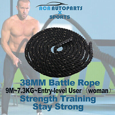 AU79 • Buy 9M Heavy Home Gym Battle Rope Battling Strength Training Exercise Fitness