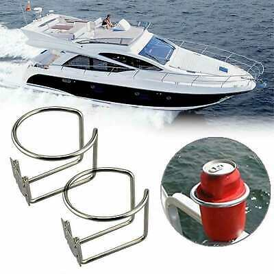AU24.95 • Buy 2x Stainless Steel Boat Ring Cup Drink Holder For Boat Yacht Marine Camper Truck