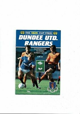 1984 Dundee United V Rangers Scottish League Cup Final Football Programme Oct • 1.50£