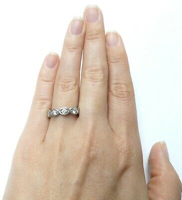 £15.97 • Buy  Sterling Silver With CZ Eternity Band Size 7 FREE SHIPPING