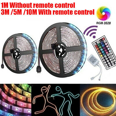 AU12.79 • Buy 1/3/5/10M 3528 RGB LED Strip Light Multi-colored Activated Remote Strips Sydney
