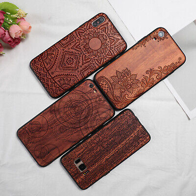 AU16.97 • Buy Luxury Natural Rose Wooden TPU Phone Case For IPhone11 X 7/8Plus Samsung S10Plus