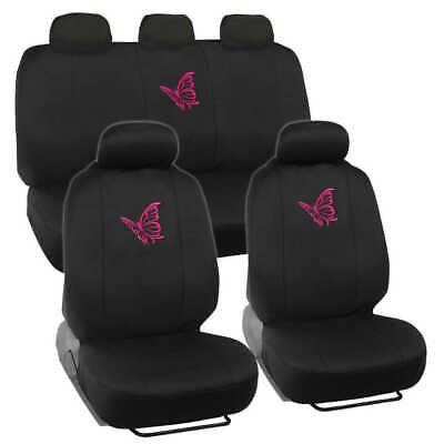 $29.90 • Buy Pink Butterfly Car Seat Covers Full Set - Cute Auto Accessory Gift For Women