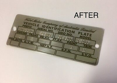 AU12.50 • Buy XR XT XW GT Ford Falcon Fairmont ID Compliance Plate Tag Stickers