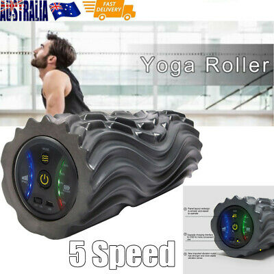 AU100 • Buy 5 Modes Electric Yoga Vibrating Foam Roller Massage Body Muscle Relax Fitness