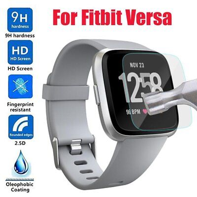 $ CDN7.84 • Buy 9H Tempered Glass Screen Protector Cover Film Case For Fitbit Versa Smart Watch
