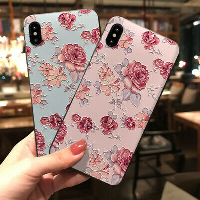 AU6.25 • Buy For IPhone 11 Pro XS Max XR X 8 7 6 S Sweet Fashion Flowers Phone Case For Girls