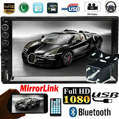 AU82.90 • Buy 7  Double 2 DIN Car Stereo Radio Mp5 Video FM Camera Mirrorlink For GPS Android