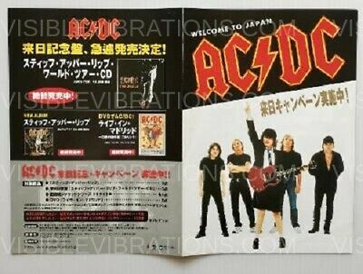$15.01 • Buy AC/DC Concert Flyer Welcome To Japan 2001