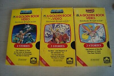 $10.95 • Buy Masters Of The Universe Vintage VHS(3) Golden Book Videos