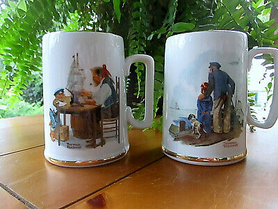 $ CDN8.28 • Buy Vintage Norman Rockwell Museum Mugs 1985 COLLECTIBLE 10 Oz. TWO Mugs