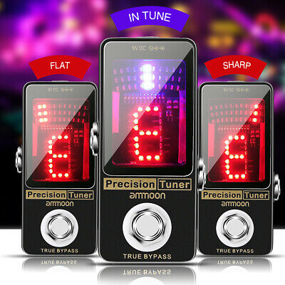 AU28.92 • Buy Ammoon Precision Chromatic Tuner Pedal Large LED Metal For Guitar Bass