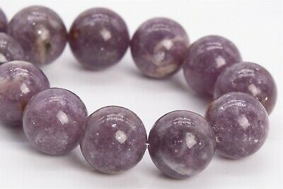 $22.99 • Buy 12MM Genuine Natural Lepidolite Gemstone Beads Grade AAA Round Loose Beads 7