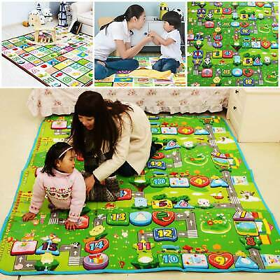 £12.29 • Buy 200x180cm Baby Crawling 2 Side Play Mat Educational Game Soft Foam Picnic Carpet