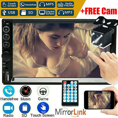 AU97.63 • Buy 7'' 2 Din MP5 Radio Player Double Car Stereo Head Unit Radio Touch Screen FM AM
