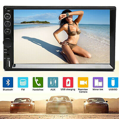 AU81.98 • Buy 7'' Double 2DIN Car Radio Video Stereo FM AM USB Mirror Link For Android IOS GPS