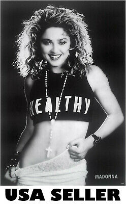 $9.99 • Buy Madonna Early 80s B&w POSTER 23.5 X 34 HTF (sent From USA In PVC Pipe)