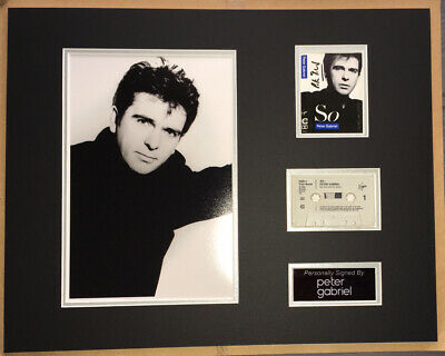 £149.99 • Buy SIGNED PETER GABRIEL 20x16 SO CASSETTE MOUNTED DISPLAY RARE AUTHENTIC GENESIS