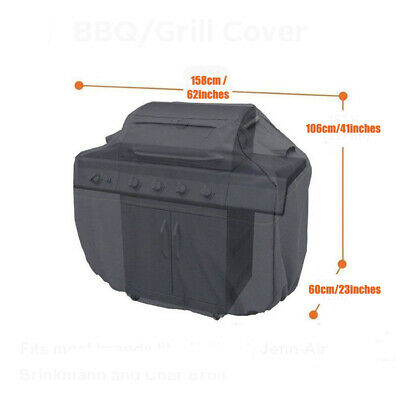 AU49.79 • Buy BBQ Barbeque Heavy Duty  Cover For CharBroil 3-4 Burner 53''-62'' Gas  * LL