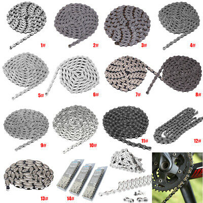 AU16.52 • Buy 7 8 9 10 Speed 116 Links Bicycle Chain Quick Connector Mountain Bike For MTB