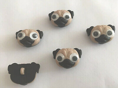 £3.40 • Buy Dress It Up Pugs Dogs Childrens Party Cake Decorations Crafts Mobile Phone  Art