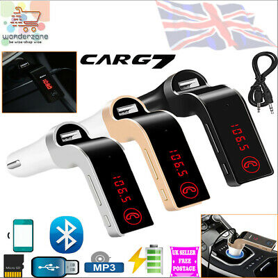Wireless Bluetooth Transmitter In Car FM Radio LCD MP3 Player + USB TF AUX Slot • 5.99£