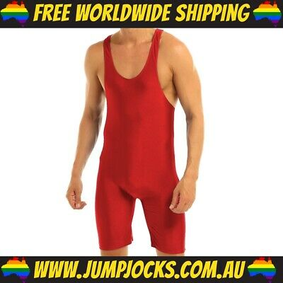 Red Lycra Bodysuit - Fetish, Wrestling, Gay *FREE WORLDWIDE SHIPPING* • 16.36£