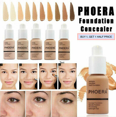 PHOERA® Foundation Concealer Full Coverage Makeup Matte Brighten Long Lasting UK • 6.70£