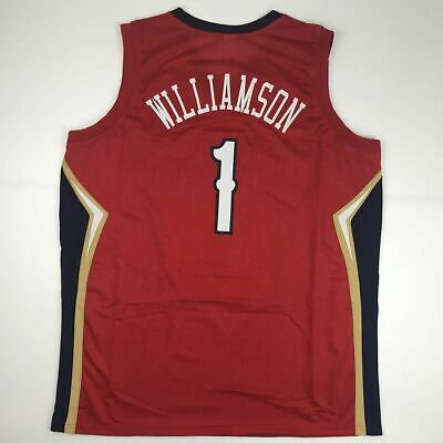 $49.99 • Buy New ZION WILLIAMSON New Orleans Red Custom Stitched Basketball Jersey Men's XL