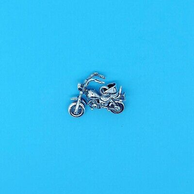 Genuine 925 Solid Heavy Sterling Silver Harley Motorbike Chopper Bike Charm • 18.99£