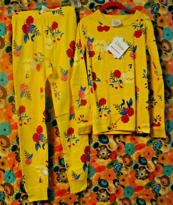 $29.99 • Buy NWT Hanna Andersson Disney Princess Belle Cotton Long John PJ Pajamas 130 US 8