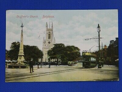 £2.50 • Buy St Peter's Church And Tram & Drinking Fountain, Richmond Place, BRIGHTON, Sussex
