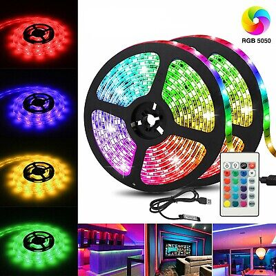 $9.99 • Buy LED Light Strip 2M/6.5FT USB RGB Multi Color TV Backlight With 24 Key Remote