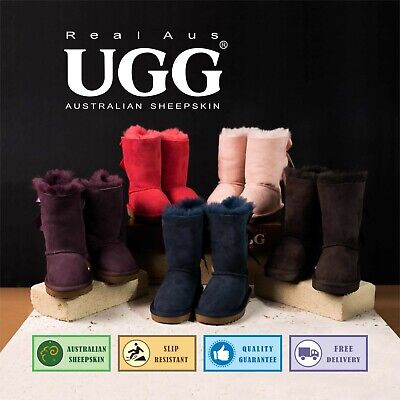 AU59.95 • Buy Ugg Real Aus 9  Bailey Bow Boots Chestnut/Chocolate/Mulberry/Navy/Black/Raisin