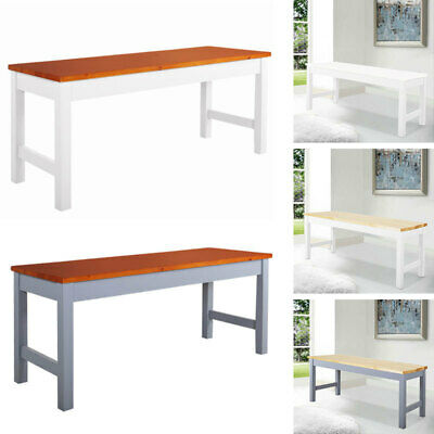 Solid Pine Wood Long Bench 3FT Dining Room Kitchen Hallway Garden Seat Bench • 39.95£