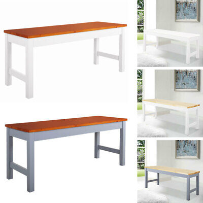 Solid Pine Wood Long Bench 3FT Dining Room Kitchen Hallway Garden Seat Bench • 43.95£