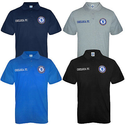 Chelsea FC Official Football Gift Mens Crest Polo Shirt • 14.99£
