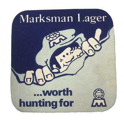£7.28 • Buy Vintage Mansfield Brewery MARKSMAN LAGER Worth Hunting For Bar Coaster Beer Pad