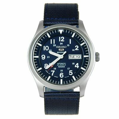 $ CDN181.66 • Buy Seiko 5 SNZG11J1 Automatic Blue Dial And Band Mens Made In Japan Watch