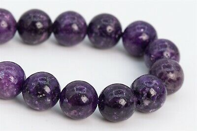 $6.79 • Buy 8MM Genuine Natural Purple Lepidolite Grade A Round Gemstone Loose Beads 7.5