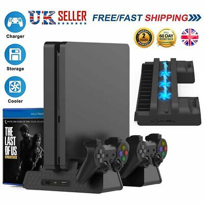 AU35.58 • Buy Vertical Stand For PS4/PS4 Slim/PS4 Pro Cooling Fan PS4 Controller Charging Dock