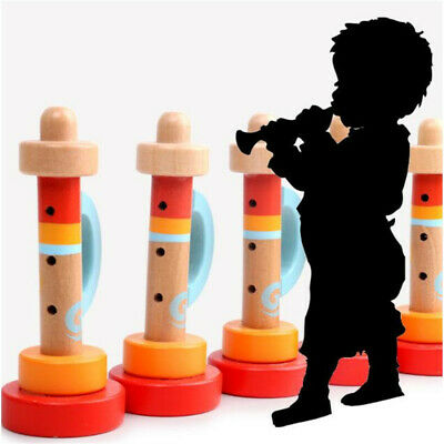 Baby Kid Wooden Musical Instrument Trumpet Hooter Bugle Suona Toy  FA • 3.41£
