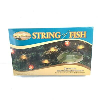 $21.99 • Buy String Of Fish Decorative Lights Bass Bobbers Christmas Indoor/Out RV Awning