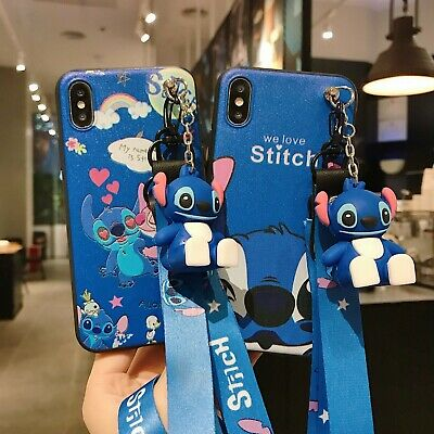 AU6.45 • Buy 3D Cartoon Love Stitch Doll Pendant Stand + Strap Case Cover For Various Phone