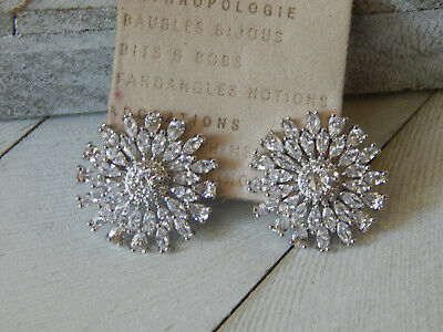 $ CDN38.11 • Buy Earrings Rhinestones Anthropologie Sparkly Round S/m Post   Nwt $48